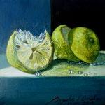 limones, 20cm x 20cm, acrilico sobre tela, 2010. disponible.