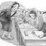 児童書「ねえ、さあやちゃん」[文芸社] p.28-29(色鉛筆)