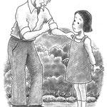 児童書「ねえ、さあやちゃん」[文芸社] p.31(色鉛筆)
