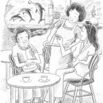児童書「かげぼうし黒太、夏を行く」[文芸社] p.50(色鉛筆)