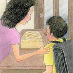 絵本「マサヒロとあたし」[文芸社]p.27(色鉛筆)
