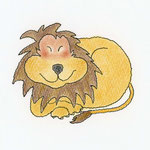 ライオン君(ペン、色鉛筆)