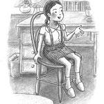 児童書「ねえ、さあやちゃん」[文芸社] p.7(色鉛筆)