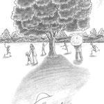 児童書「かげぼうし黒太、夏を行く」[文芸社] p.75(色鉛筆)
