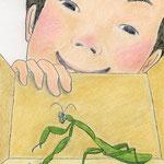 絵本「マサヒロとあたし」[文芸社]p.15(色鉛筆)