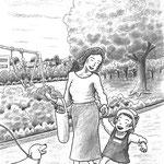 児童書「ねえ、さあやちゃん」[文芸社] p.20(色鉛筆)
