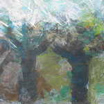 Herbststurm - Acryl auf Papier - 0,45 x 0,35, m. R. 0,60 x 0,50