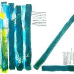 Aus der Reihe gefallen - Acryl/ Kreide - 0,60 x 0,40, m. R. 0,73 x 0,53
