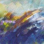 Frühlingssturm - Acryl auf Leinwand - 0,90 x 0,70, m. R. 0,94 x 0,74