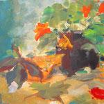 Herbststrauß - Acryl auf Papier - 0,60 x 0,45, m. R. 0,80 x 0,60