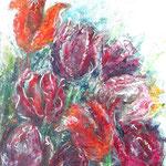 Farbenspiel - Acryl auf Papier - 0,50 x 0,70, m. R. 0,63 x 0,83
