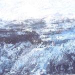 Lebensstürme - Acryl auf Papier - 0,60 x 0,50, m. R. 0,82 x 0,63