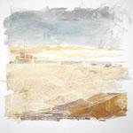 Marokkanische Wüste - Acryl auf Leinwand - 0,80 x 0,80, m. R. 0,84 x 0,84
