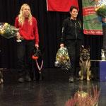 Jelia mit Zakira und Moni mit Ronja; SC Schweizermeisterschaft 2016