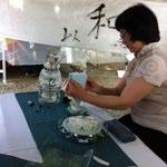 ニュージーランドの中国茶屋さんお手前が美しかったです