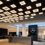 Autohaus Jürgens Hagen Lichtskulptur Willkommenszone