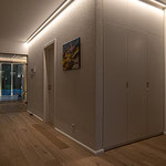 Privathaus Odenwald LED-Linien Flur