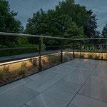 Privathaus Odenwald LED-Linien Fassade Terrasse