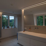 Privathaus Odenwald LED-Linien Bad