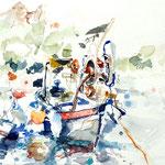 Fischerboote im Port du Poussai
