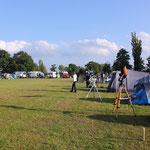 Gülper Sportplatz zum Teleskop-Treffen