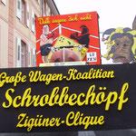 """2014 Wagen-Koalition mit Zigüner """"Wahlkampf"""" """"Volk ärgere dich nicht"""""""