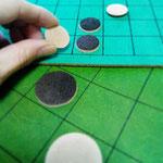 革のオセロ(盤も床革です)