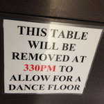 Why can't we dance on the tables too?
