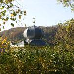 Entdeckt - die Kuppel des blauen Häusels in Maxen. Foto: © J. Tronicke