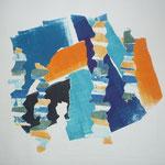 Monotipia em papel 22 x 32 cm