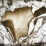 Nim, Floresta 2, Verniz mole, água forte e água tinta, 15 x 20 cm
