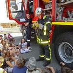 Moments forts en 2011 - Les pompiers à l'école