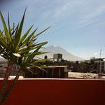 ... mit Blick auf den Vulkan el Misty