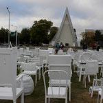 Das Memorial für die 186 Opfer des Erdbebens