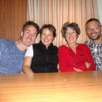 Darran, Jule, Nathalie und Olivier