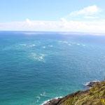 Hier treffen die Tasmanische See und der Pazifik zusammen