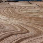 Gesteinsformationen am Strand