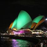 Spezielle Beleuchtung am Australia Day