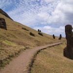 Ranu Raraku - der Steinbruch