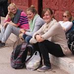 Warten auf den Bus nach Munachay
