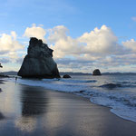 Der Strand an der Cathedral Cove