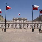 Der Regierungspalast in Santiago di Chile
