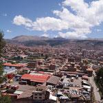 Blick aus meinem Fenster ueber Cusco
