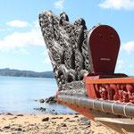 Kriegskanu in Waitangi