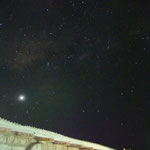 ein unglaublicher Sternenhimmel - der helle Punkt ist Venus