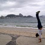 Handstand an der Copacabana