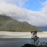 Erste Regenwolken auf dem Haast-Pass