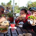 Nach der Tour gab es die leckersten Burger von Neuseeland