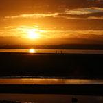 Sonnenuntergang am schönsten Strand von Nelson.