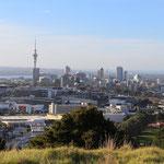 Der Blick über die Stadt vom Mount Eden